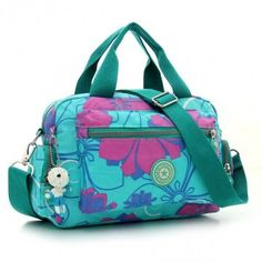 84566ab176e9 Women Casual Nylon Waterproof Flower Printing Handbag Shoulder Bag Leather  Crossbody Bag