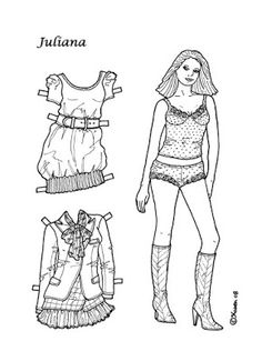 Karen`s Paper Dolls: Juliana 1-8 Paper Doll to Colour. Juliana 1-8…