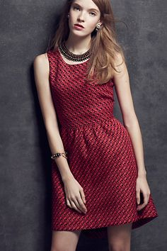 Geojacquard Dress
