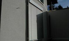 Raffstore mit abgeschrägter Blende - vom Rollladen und Sonnenschutz Fachbetrieb Mester aus Bielefeld, für OWL und Umgebung.