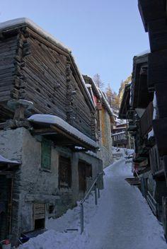 Old Village of Zermatt, Valais, Switzerland. (Copyright Dominique Schreckling)
