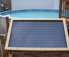 I made this solar-powered swimming pool heater out of common materials anyone could get, with ordinary tools most average homeowners have (or can borr... Самодельный уловитель солнечного тепла для подогрева воды в открытом бассейне