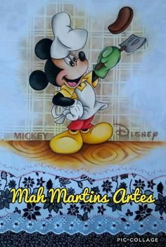 Mickey Mouse Dress, Minnie Mouse, Mickey And Friends, Disney Food, Christmas Cross, Decoupage, Patches, Cross Stitch, Disney Characters