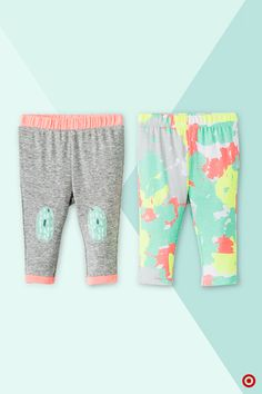 Cozy and soft (and super cute), these pull-on pants by Oh Joy! will be a favorite everyday staple! In a convenient 2 pack set, these colorful pants feature bright patterns and shades of mint, coral and yellow, and are easily mixed and matched with other coordinating items in the Oh Joy! collection. Find more adorable Oh Joy! styles at our online shop.