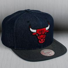 1993e82d5 Mitchell   Ness NBA Chicago Bulls Raw Denim Snapback Cap. Jose Guzman · Hats  !