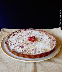Crostata di ricotta e ciliegie con farina di riso rosso integrale