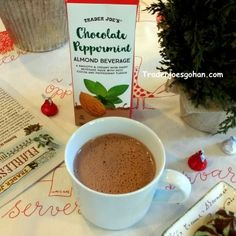 Trader Joe's Chocolate Peppermint Almond Beverage $1.79 | #TraderJoes #Chocolate  #Peppermint #AlmondBeverage