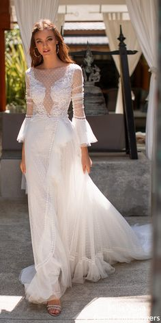 """Milla Nova Wedding Dresses 2020 are here! This is the Milla Nova 2020 """"Milla by Lorenzo Rossi"""" bridal collection for you. Amazing Wedding Dress, Beautiful Wedding Gowns, Elegant Wedding Dress, Designer Wedding Dresses, Beautiful Bride, Bridal Dresses, Pin Up, Indie, Wedding Dress Accessories"""