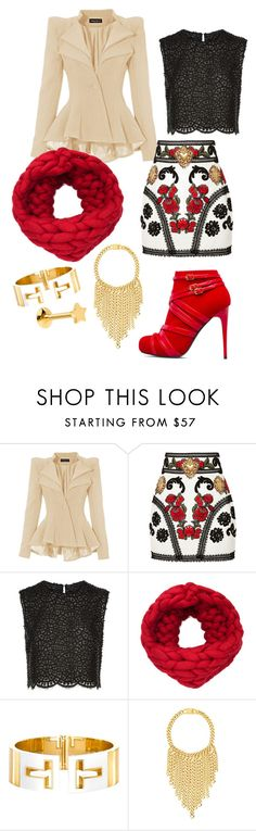 """""""Scarlett 1"""" by kitasahe ❤ liked on Polyvore featuring ShoeDazzle, Dolce&Gabbana, Costarellos, Tiffany & Co. and Eklexic"""