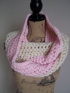 baby soft chunky vegan crocheted infinity by LittleDillyDesigns