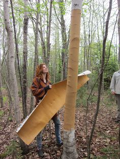 building a birch bark canoe