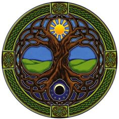 Sun & Moon Celtic Tree of Life ~