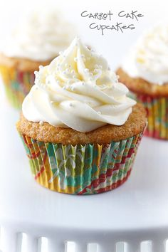 These cupcakes are made moist with crushed pineapple and greek yogurt, baked to fluffy perfection and topped with a rich cream cheese frosting to die for!