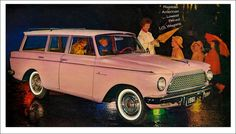 raspberry-soda-water:  the-king-of-coney-island:  1950sunlimited:  1961 Rambler American paul.malon  ⊱✰⊰  horizons in your eyes  A pink Rambler station wagon.  I have never seen anything that so totally screams mrsconwill.