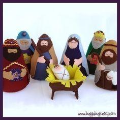 NATIVITY - PDF Doll Pattern (Joseph, Mary, Jesus, Wise Men, Shepherd, Manger)
