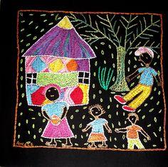 Family & painted hut   por Valerie Hearder