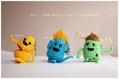 Amigurumi Dumb Ways to Die Characters  #amigurumi #amigurumis #Hapless #Numpty #Botch #rękodzieło #game #brelok #fun #characters #dumb #ways #to #die #crochet