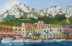 Capri Arrival Capri, Art Prints, Trending Outfits, Handmade, Painting, Etsy, Vintage, Art Impressions, Hand Made