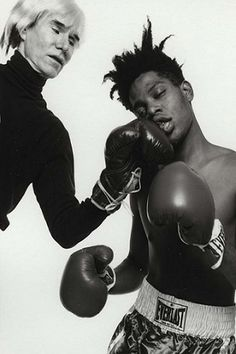 Andy Warhol with Jean-Michel Basquiat artist social activist                                                                                                                                                                                 More