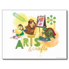 The Wonderpets - Arts and Crafts Postcard