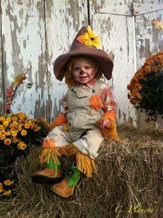 Vogelverschrikker - Scarecrow by Homemade costumes for babies #carnaval