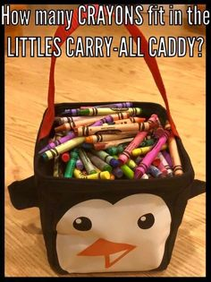 How many crayons fit in the Littles Carry All Caddy?   Thirty-One online games