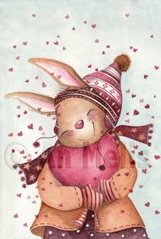 Nieuwjaarsbrief An Melis Ikko, Artsy, Teddy Bear, Toys, Inspiration, Animals, Drawings, Xmas, Tricot