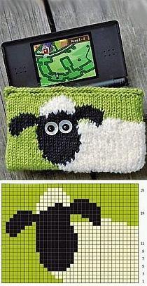 Animal Knitting Patterns, Knitting Charts, Knitting Stitches, Baby Knitting, Crochet Motifs, Crochet Chart, Filet Crochet, Crochet Patterns, Tricot Simple