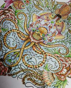 Coloring by Betty Hung - colorart.ca | Johanna Basford Lost Ocean