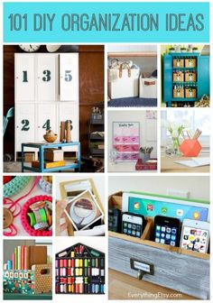 101 Diy Organization Ideas