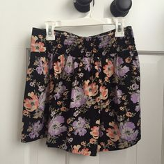 Floral Print Silk Shorts Shorts that look like a skirt when on due to the silky material. Barely worn and in perfect condition. Urban Outfitters Dresses