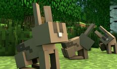 Bunnies are coming to Minecraft! One reason why more girls are playing minecraft. Lol!