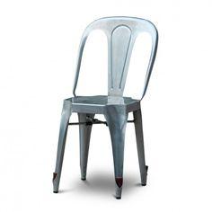 lot de 2 chaises multiplx galva gris - Chaise Eleven Patchwork Colors
