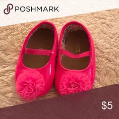 Dress shoes Hot pink crib shoes. Worn once for pictures. Excellent condition Children's Place Shoes Baby & Walker
