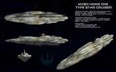 MC-80 Home One type Star Cruiser ortho by unusualsuspex on deviantART