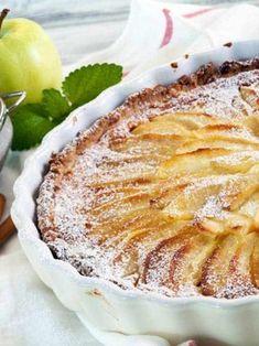 Apfelkuchen mit Quark Pie, Snacks, Desserts, Food, Gluten Free Apple Pie, Fruit Cakes, Food And Drinks, Food Food, Torte