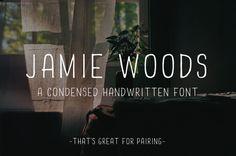 Handwritten font - Jamie Woods by @Graphicsauthor