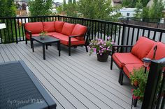 Doesn't this deck look like the perfect place to enjoy your morning coffee? Tammi from My Organized Chaos Walker-Fry did an amazing job pulling it together.