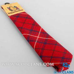 Rose Red Tartan Tie