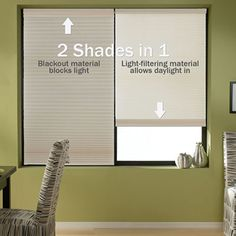 Cordless Day-Night Shades give you a light filtering and room darkening shade in one. With completely cordless operation these shades are a great choice for homes with kids.