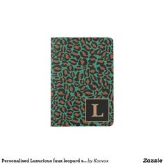 Shop Personalised Luxurious faux leopard skin print Passport Holder created by Koovox. Passport Holders, Passport Wallet, Travel Style, Stylish, Cover