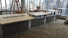 DeskWorx by DL Custom Height Adjustable Desk. #heightadjustabledesk #deskworx #officespace #dlcustom