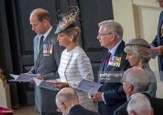 (L-R) Prince Edward, Earl of Wessex, Sophie, Countess of Wessex, Prince Richard, Duke of Gloucester and Princess Alice, Duchess of Gloucester attend the 70th Anniversary commemorations of VJ Day (Victory over Japan) at St Martin-in-the-Fields Church on August 15, 2015 in London, England. The event marks the 70thanniversary of the surrender of Japanese Forces, bringing about the end of World War II. Queen Elizabeth II and Prince Philip, Duke of Edinburgh will join British Prime Minister…