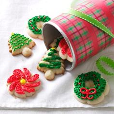 Gluten-Free Spritz Delights Recipe -My daughter has Down syndrome and loves hosting parties, especially on holidays. Cookies always took center stage until she was diagnosed with celiac disease. I decided then to take on gluten-free baking, and these are the best yet—a cross between a shortbread and a sugar cookie.—Cheryl Costilow, Amherst, Ohio