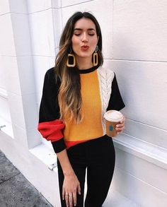 ootd | outfit | fashion | colorful sweater | colorful jumper | fall fashion