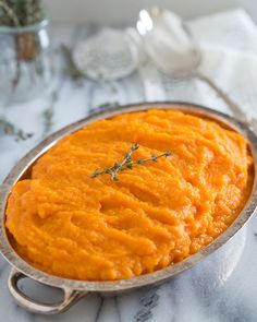 Sweet Vanilla Carrot Parsnip Puree.