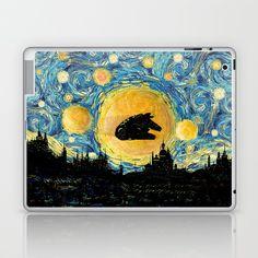 Millennium starry night Laptop & iPad Skin @pointsalestore #society6 #laptop #skin #Abstract #Streetart #Comic #Vintage #Darthvader #Darthvader #R2d2 #Kyloren #Kyloren #Deathstar #Millennium #falcon #Starrynight #Vangogh #Starrynight #Hansolo