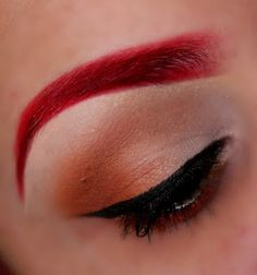 Red Eyebrows- I kind of like it, I couldn't pull it off though