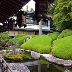 Stayed the night in Koya-San at this wonderful Buddhist temple, Fukuchi-in. These are the gardens