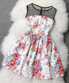 I love floral dresses!